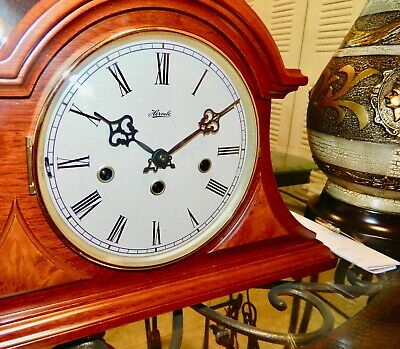 "*****NICE  ""FRANZ HERMLE"" W/ Papel Key-wound WESTMINSTER Chime Mantel CLOCK**"