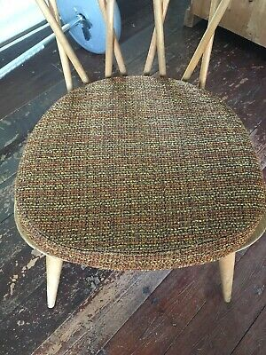 Genuine Five Ercol Chair Cushions With Covers