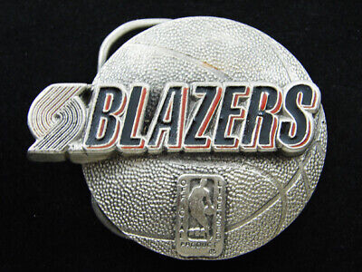 Rf11165 *Nos* Vintage 1994 *Portland Trailblazers* Basketball Sports Belt Buckle