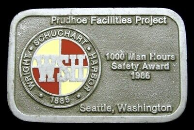Pd10166 Great 1986 **Wright,Schuchart,Harbor** Prudhoe Bay Award Oilfield Buckle