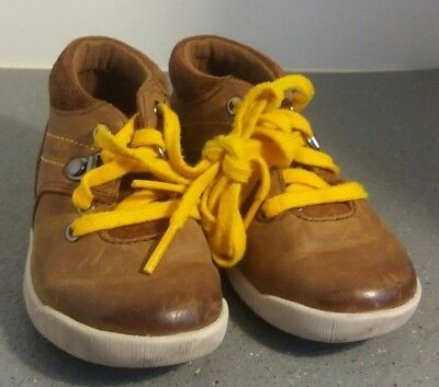 Clarks Boys  Brown Leather First Shoes - Size 5.5 Width F