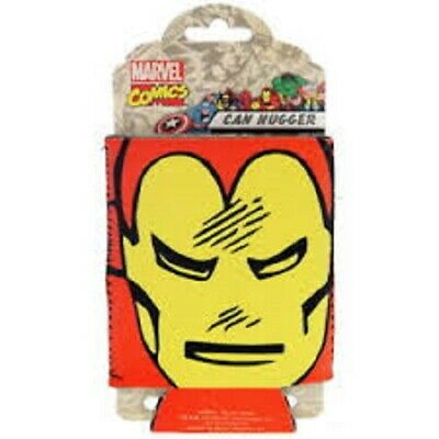 Iron Man Face Marvel Can Coozie Superhero Bottle Drink Accessory