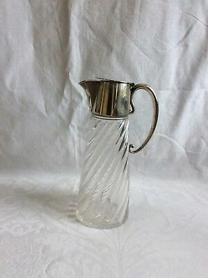 Hukin and Heath Claret Jug,Glass and Silver Plate,