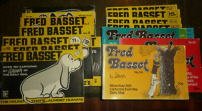 Fred Basset Cartoon Books - 18 editions from 1960s and 70s