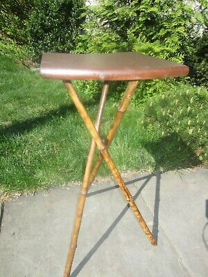 Vintage/Antique Bamboo Plant Stand - made in Central PA  1920's Neat!  VGC