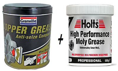 Granville Copper Grease 500g & Holts High Performance Moly CV Grease 500g