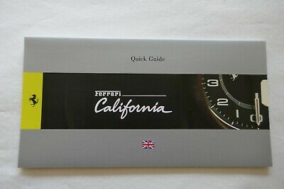 Ferrari California - Quick Reference Guide Manual - UK Version - 4030/11