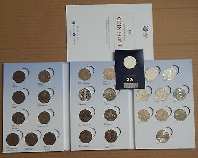 *British Coin Hunt 50p Collectors Album From The Royal Mint - FULL  27 COINS