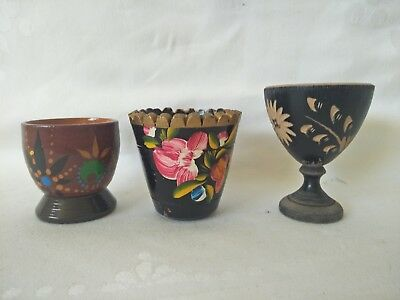 Assorted Wooden Egg cups