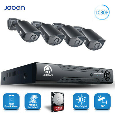 JOOAN 8CH 1080P CCTV Camera Security System Home Outdoor Night Vision 1/2TB HDD