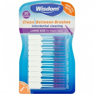 Wisdom Clean Between Interdental Purple Large  (20 Brushes)