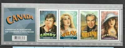 pk43137:Stamps-Canada #2153 Hollywood Stars 4 x 51 cent Souvenir Sheet-MNH