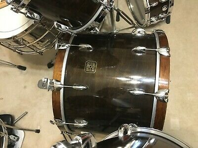 "1980's Gretsch USA Maple Jasper 22"" Walnut Bass Drum"