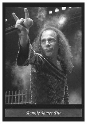 Ronnie James Dio Black Sabbath Poster. NEW! Black & white. A3 size.