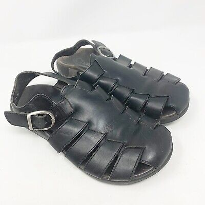 45f7b6be9f5f Chaco Cosmo Shock Point Mens Sandals Black Leather Made in Portugal Size 10