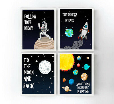 outer space,solar system planets,wall art decor,girl boy nursery,kids room decor