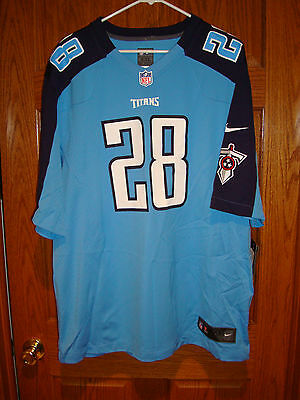 Hot BLANK ANY NAME Tennessee Titans Home Used Nike Game Jersey Size XL  for cheap