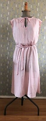 Vintage 1980s' Dress – Pink Pinstripe – Excellent Condition - Size 12
