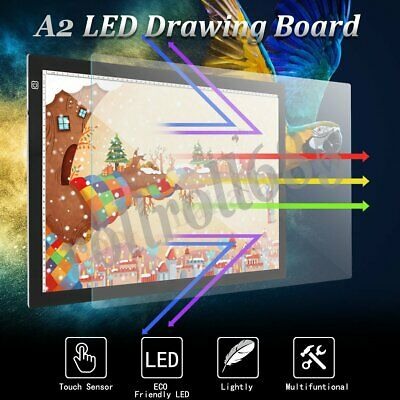 A2 LED Light Box Tracing Drawing Board Art Design Pad Copy Lightbox Day & Light