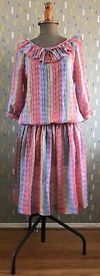 Vintage 1980s' Dress – Rainbow – Excellent Condition – Size 12