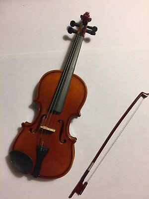8CM Wooden Mini Violin Miniature Musical Instrument Model with Support and CasKV