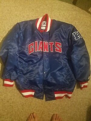 new concept 95d63 bfec0 UK NEW YORK Giants Footpatrol Packer Starter Jacket XXL ...