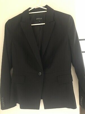 Basque Black fine line Suit jacket 10