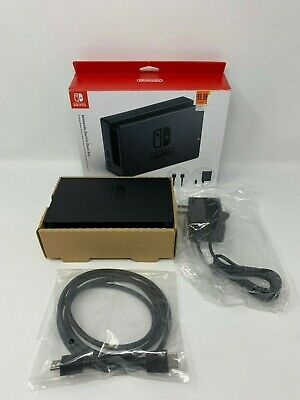 Genuine Nintendo Switch Charging Dock + AC Adapter Power Cable  HDMI OEM Set