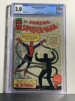 AMAZING SPIDER-MAN 3 CGC 2.0 White Pages 1ST APPEARANCE DOCTOR OCTOPUS Marvel