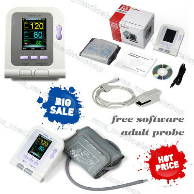 FDA approved blood pressure monitor CONTEC08A+Spo2  for HUMAN USE,free software