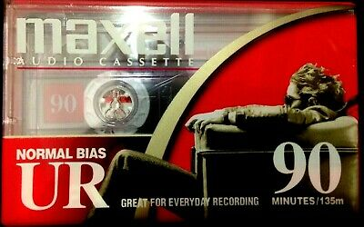 maxell UR 90 min audio cassette tape normal bias great sound all new / unopened