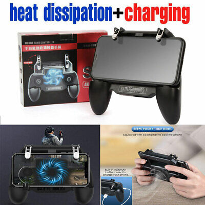 PUBG Wireless Game Controller Joystick Cooling Fan Gamepad for IOS Android Phone