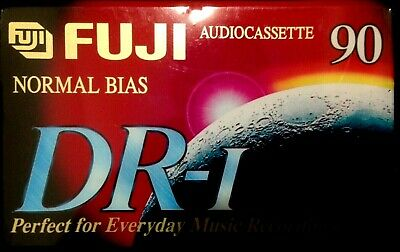 Fuji DR-1 90 tape Awesome sounding audio cassette tape unopened great sound