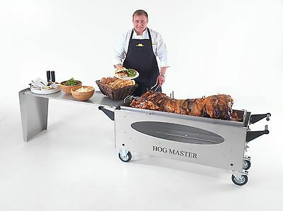 Hogmaster Hog Roast Machine With Glass Window and Table Attachment.