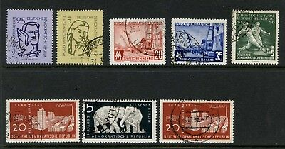 DDR EAST GERMANY Various used Stamps 1956 (2) Carl Zeiss Werke, Berlin Tierpark