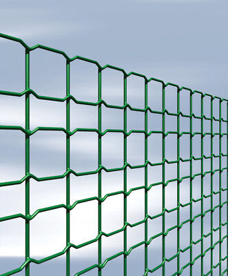 garden border wire fence PVC green coated galvanised mesh 800mm high x 25m