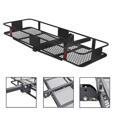 """60"""" Folding Car SUV Truck Cargo Carrier Basket Luggage Hitch Mount 2"""" Receiver"""
