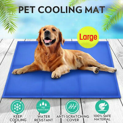 Gel Cooling Mat for Dog Cat Pet Self cooling pillow Summer Hot Weather Bed Large