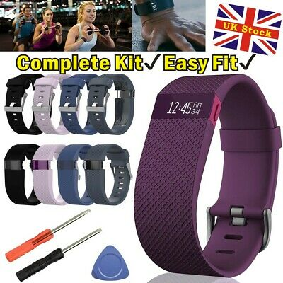 Replacement Silicone Wristband Strap Watch Band Bracelet For Fitbit Charge HR UK