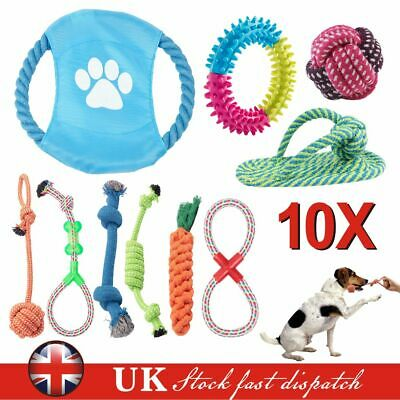 Dog Puppy Toy Rope Teething Chew Playtime And Teeth Cleaning Cotton Rope Toys