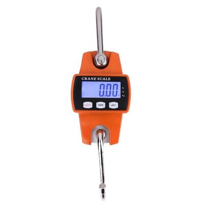 300Kg Mini Crane Scale Portable Lcd Digital Electronic Stainless Steel Hook C1Y4