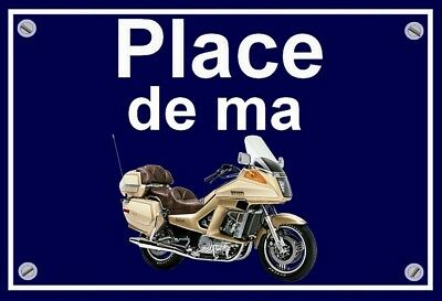 "plaque "" PLACE DE MA YAMAHA 1300 VENTURE ROYALE "" ( couleur OR  )"
