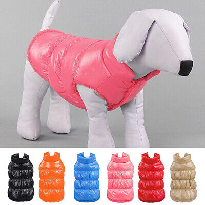 Small Dog Pet Puppy Winter Padded Waterproof Coat Down Jacket Warm Vest Clothes
