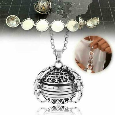 Expanding Photo Locket Necklace Silver Ball Angel Wing Pendant Memorial-Gift