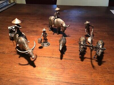 Antique Chinese silver statues 1900 - 1910