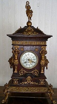Antique Oak Cased Mantel Clock