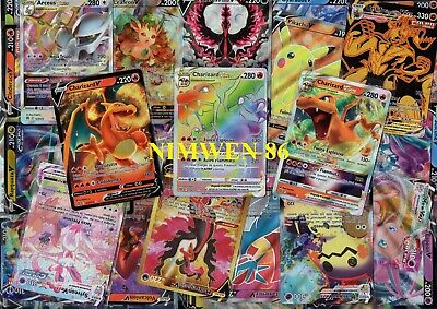 LOTTO 100 Carte POKEMON: 4 Foil 3 Rare 2 holo 1 GX - FOTO ILLUSTRATIVA: LEGGI!