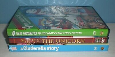 Holiday Family Collection, Nico the Unicorn & A Cinderella Story - 3 dvd lot