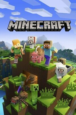 Minecraft WINDOWS 10 EDITION KEY per PC COMPLETO idea regalo GIOCO MULTIPLAYER