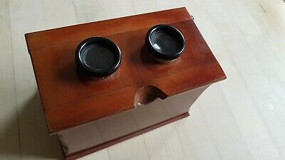 EARLY 20th century wood and brass stereoscope-possibly French